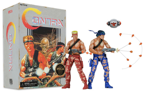 Contra Bill and Lance Video Game Appearance Action Figures