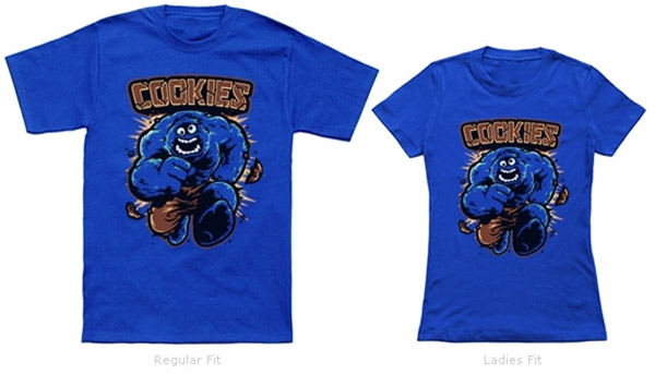 Cookies Hulk and Cookie Monster Mash Up Shirt