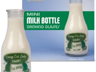 Crazy Cat Lady Mini Milk Bottle Drinking Glasses