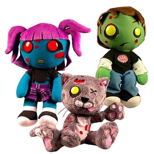 Creepy Cuddlers Zombies Plush Set