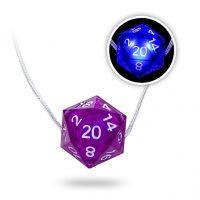 Critical Hit D20 LED Necklace