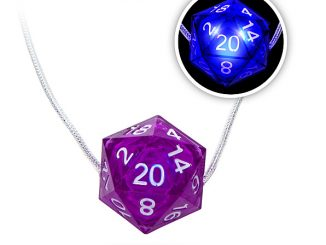 Critical Hit D20 LED Necklace