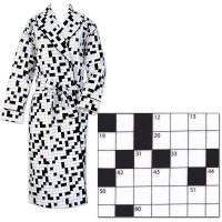 Crossword Puzzle Flannel Robe