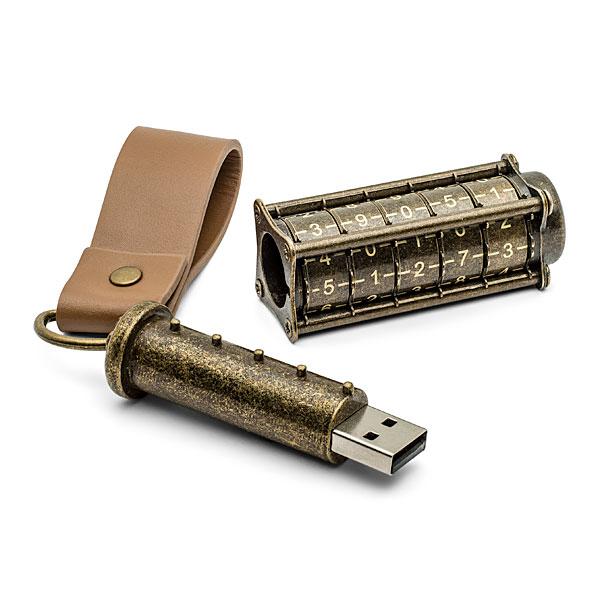 Cryptex- Steampunk USB Drive