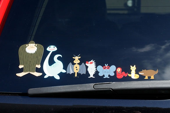 Cryptozoological  Family Car Stickers