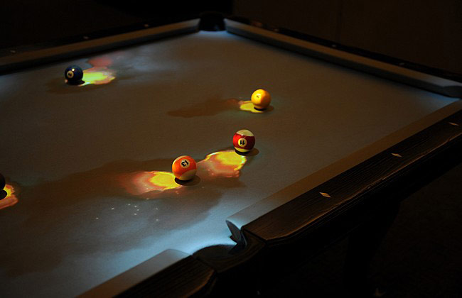 Cuelight Interactive Pool Table System Geekalerts