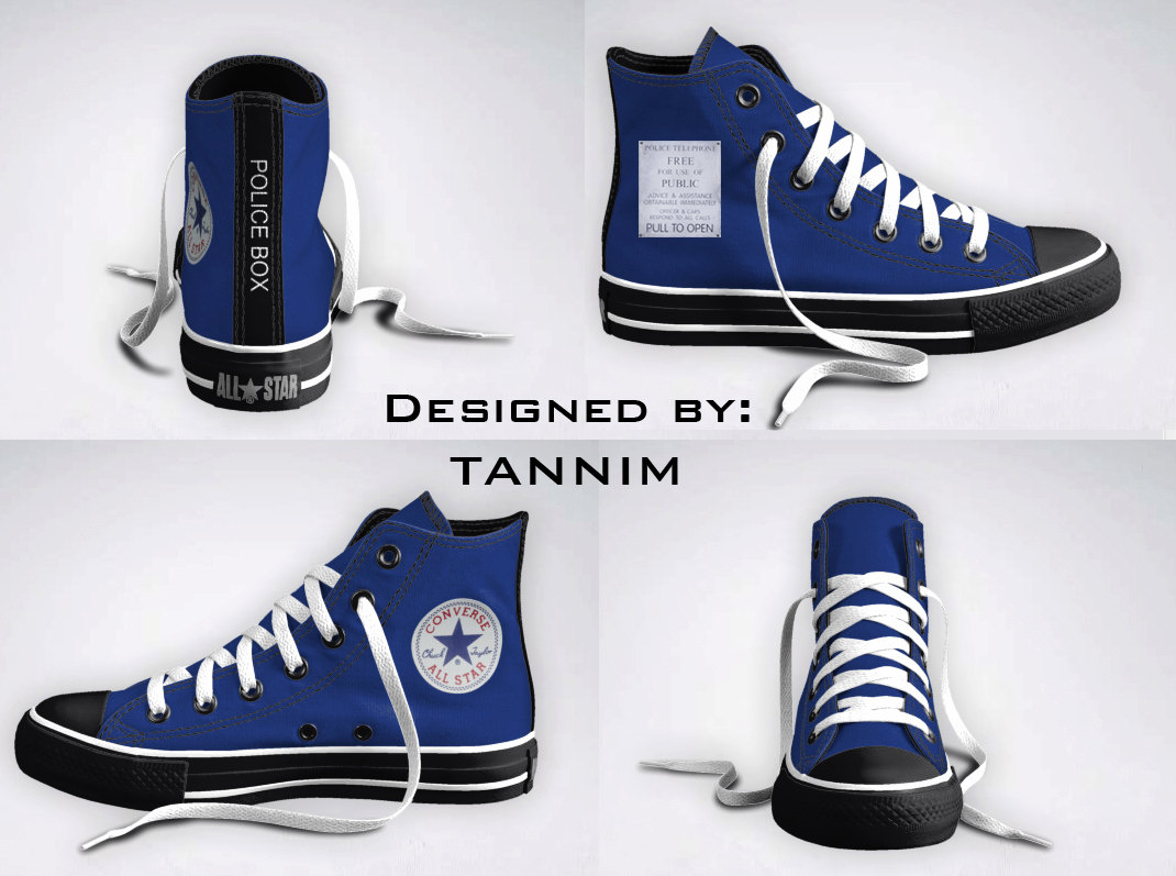 ef8bdd950854 Custom Doctor Who TARDIS Converse Chucks