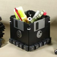 Custom Floppy Disk Pen & Pencil Holder