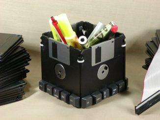 Custom Floppy Disk Pen & Pencil Holder
