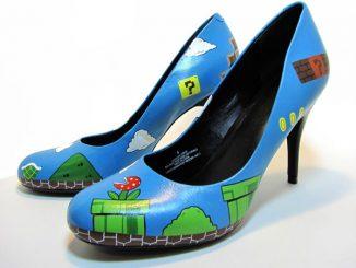 Custom Hand-Painted Super Mario Heels