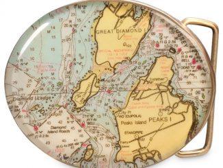 Custom Map Belt Buckle
