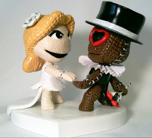 Custom Mii Wedding Cake Topper