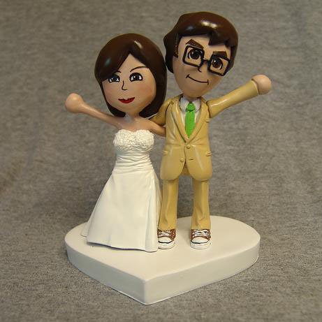 Custom Mii Wedding Cake Toppers