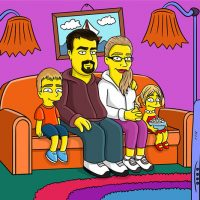 Custom Simpsons-Style Family Portrait