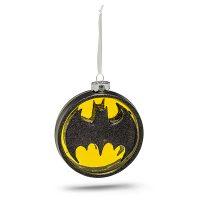 DC Batman Logo Blown Glass Ornament