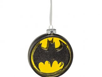 DC Batman Logo Blown Glass Ornament