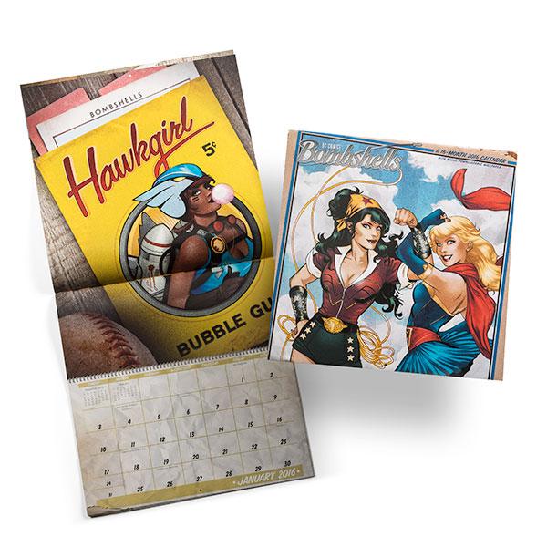 DC Bombshells 2016 Wall Calendar