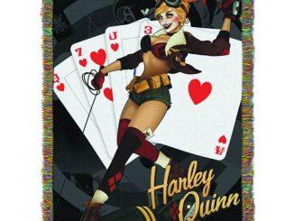 DC Bombshells Harley Quinn Woven Tapestry Blanket
