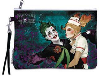 DC Bombshells Joker and Harley Quinn Wristlet Purse