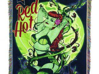 DC Bombshells Poison Ivy Woven Tapestry Blanket