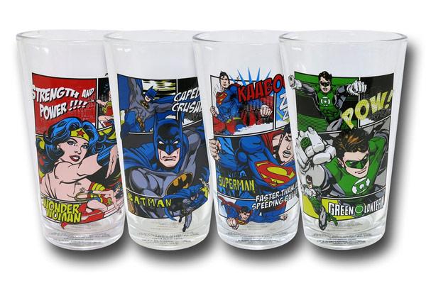 DC Comic Panel Action Pint Glass Set