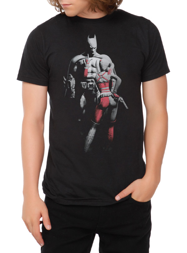 DC Comics Arkham City Batman And Harley Quinn T-Shirt