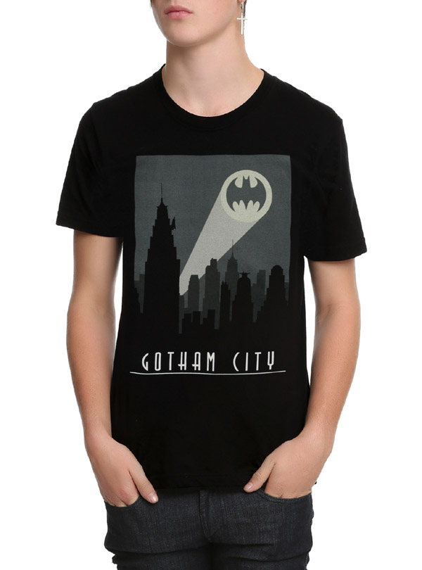 DC Comics Batman Art Deco Gotham City T-Shirt