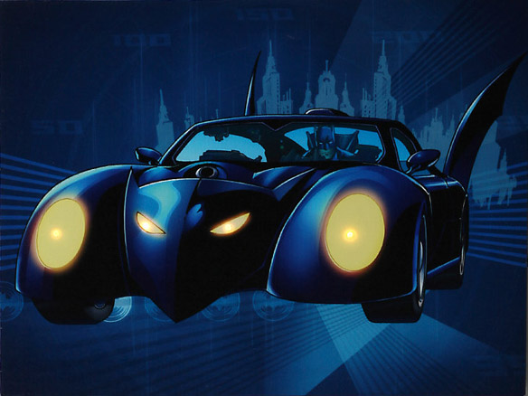 DC Comics Batman Batmobile Lighted Canvas Wall Art