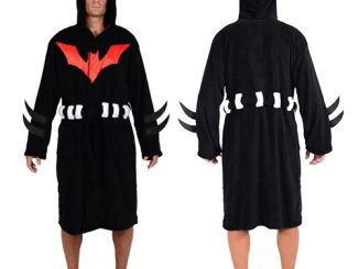 DC Comics Batman Beyond Hooded Fleece Bathrobe