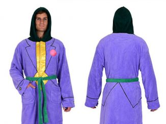 DC Comics Batman Joker Jacket Hooded Fleece Bathrobe