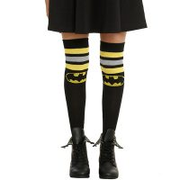 DC Comics Batman Striped Over-The-Knee Socks