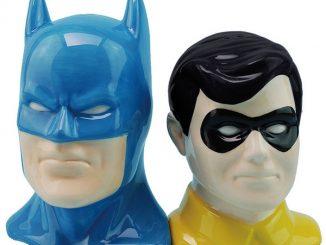 DC Comics Batman and Robin Salt and Pepper Shakers