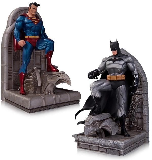 DC Comics Batman and Superman Bookends