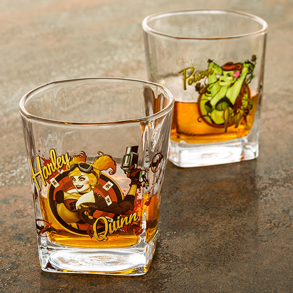DC Comics Bombshells 4pc. 9oz. Rocks Glass Set