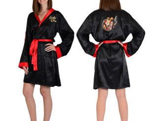 DC Comics Bombshells Harley Quinn Satin Bathrobe