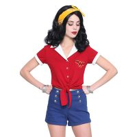 DC Comics Bombshells Wonder Woman Top and Shorts 3