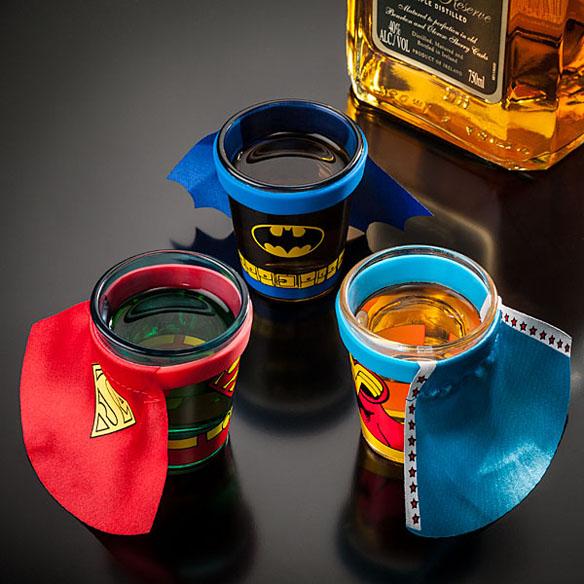 DC Comics Caped Shot Glasses