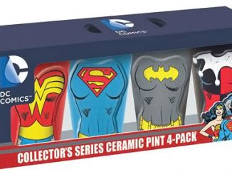 DC Comics Female Heroes Molded Ceramic Pint Glasses