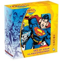 DC Comics Glass Coasters Set 4-Pack