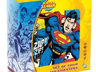 DC Comics Glass Coasters Set 4-Pack
