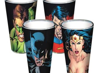 DC Comics Gritty Faces Pint Glass 4-Pack