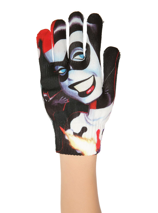 DC Comics Harley Quinn Face Gloves 1