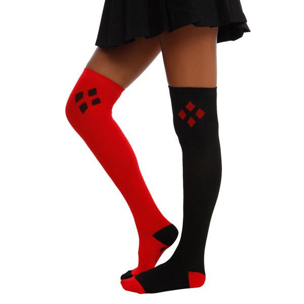 DC Comics Harley Quinn Over-The-Knee Socks