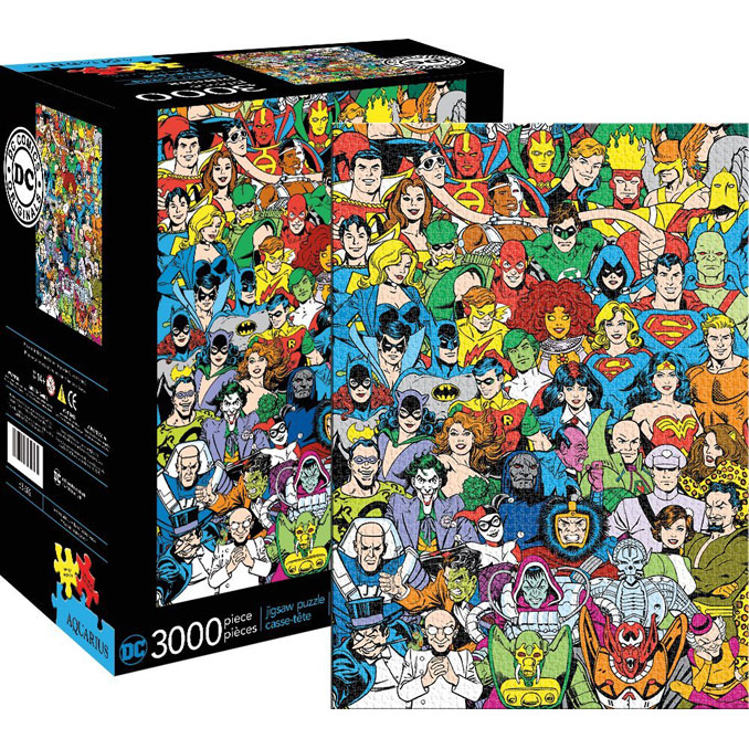 DC Comics Hero and Villain Line Up 3,000-Piece Puzzle
