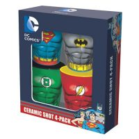 DC Comics Heroes Molded Ceramic Shot Glass 4-Pack
