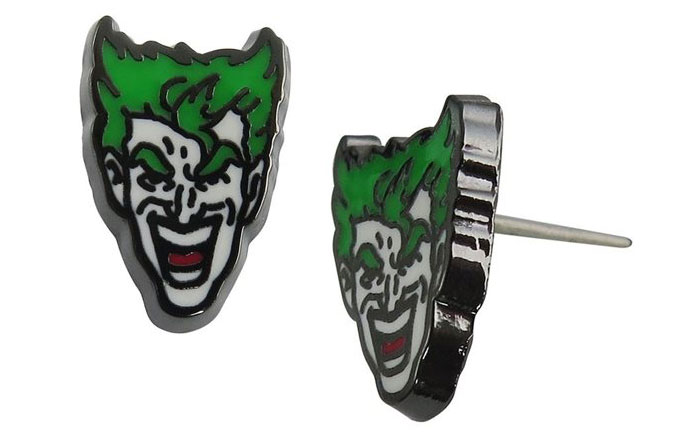 DC Comics Joker Face Stud Earrings