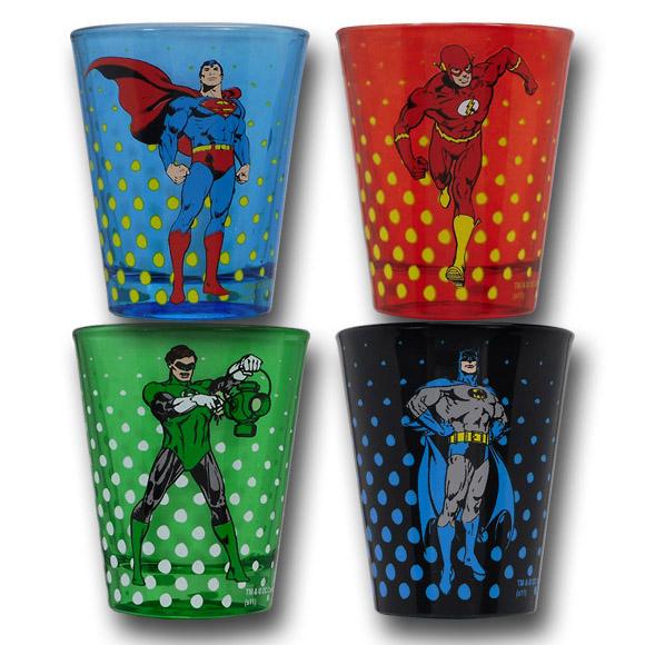 DC Comics Justice League Symbol Shot Glass Set