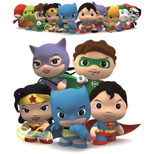 DC Comics Little Mates Keychains