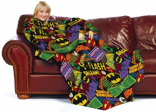 DC Comics Logos Comfy Throw with Sleeves