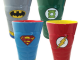 DC Comics Male Heroes Molded Ceramic Pint Glass 4-Pack